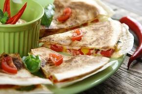 Quesadilla z papryką i chilli