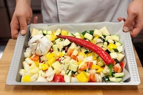 Quesadillas z grillowanymi warzywami z dipem z niebieskiego sera – krok 2