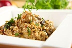 Risotto z grzybami (kurki, prawdziwki, maślaki) i kurczakiem – krok 6