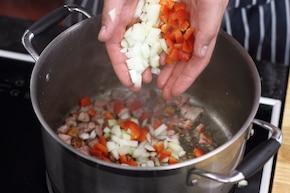 Risotto z pomidorami  – krok 1