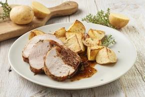 Pieczeń wieprzowa z sosem winnym