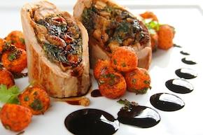 Roladki wieprzowe ze szpinakiem