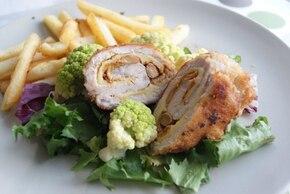 Roladki z kurczaka z kurkami