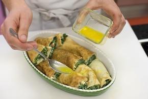 Ruloniki ze szpinakiem – krok 6