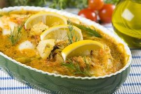 Ryba po grecku z ananasem