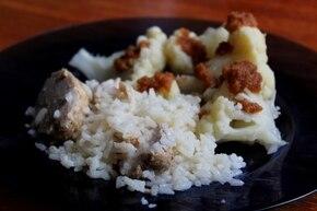 Ryż z polędwiczką gotowany w bulionie