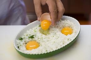 Ryż zapiekany z jajkami – krok 3