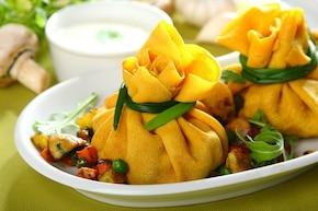 Sakiewki  z warzywami curry