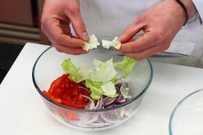 Sałatka curry z kurczakiem – krok 2