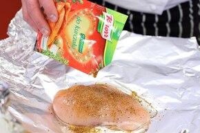 Sałatka meksykańska z kurczakiem – krok 1
