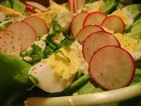 Sałatka z jajka i rzodkiewki w sosie chrzanowo-majonezowym