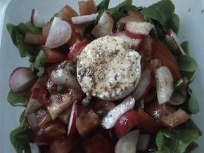 Sałatka z rzodkiewkami i kozim serem