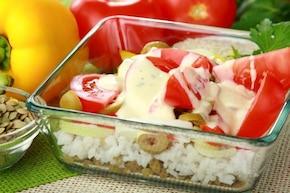 Sałatka z soczewicą i ryżem