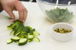 Sałatka zielona – krok 2