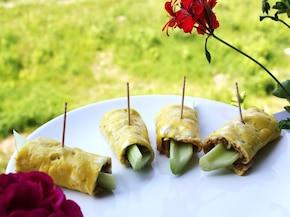 Seler naciowy otulony cebulkowym omletem