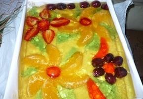 Sernik z owocami i galaretką