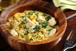 Smażony kurczak z kukurydzą i curry