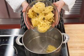 Spaghetti z bakłażanem – krok 1