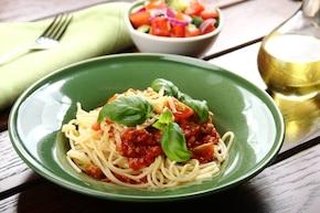 Spaghetti Bolognese z cebulką