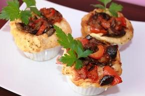 Śródziemnomorskie tartaletki warzywne