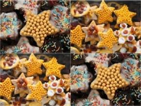 Świąteczne ciasteczka złote gwiazdeczki