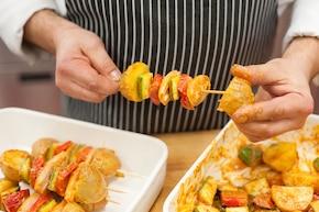 Szaszłyk z ziemniaków – krok 4