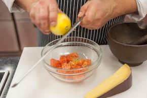 Tagliatelle z owocami morza i kaparami – krok 1