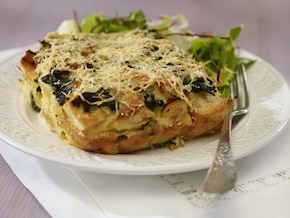 Tarta ze szpinakiem i serem