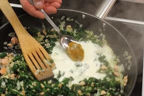 Tartaletki ze szpinakiem – krok 3