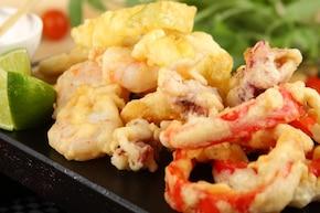 Tempura z owocami morza i warzywami – krok 6