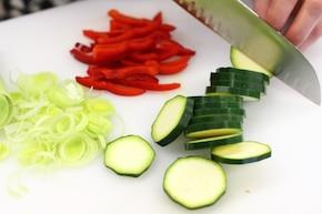Tofu obtoczone curry z warzywami – krok 2