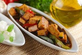 Tofu z cukinią