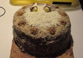 Torcik czekoladowy z pszczółkami