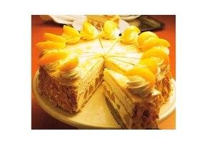 Tort brzoskwiniowy na francuskim cieście