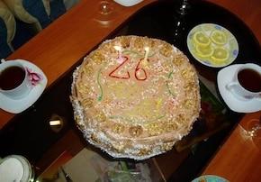 tort czekoladowo-alkoholowy z wkładką kokosową