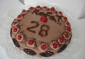 Tort czekoladowo- wiśniowy