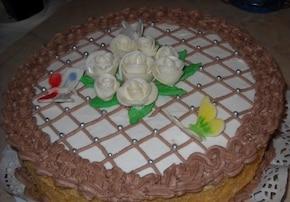 Tort śmietankowo-czekoladowy