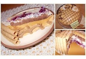TORT ŚMIETANKOWO - KAJMAKOWY Z GRUSZKĄ