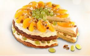 Tort z winogronami i pomarańczą