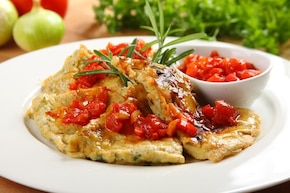 Tortilla z sosem hiszpańskim
