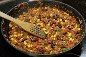 Pieczarkowe chili con carne  – krok 5