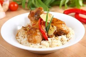 Udka z kurczaka w orzechowym sosie