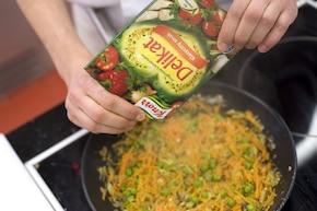 Warzywa w cieście – krok 2