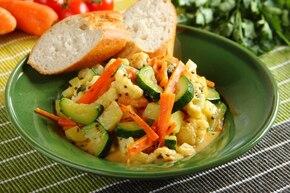 Warzywa z przyprawami prażonymi na ghee