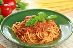Warzywne spaghetti bolognese