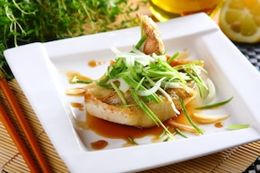 Wędzona ryba z teriyaki