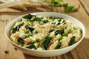 Risotto z białych szparagów