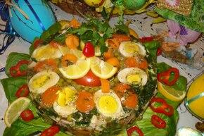 Wielkanocny wieniec warzywno-drobiowy
