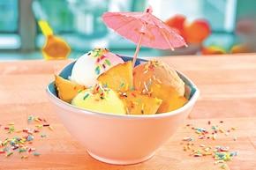 """Pyszne lody z owocami """"Lodowa wyspa"""""""