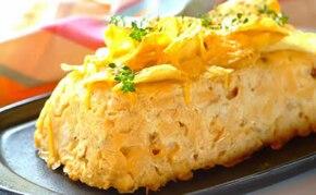 Zapiekanka z makaronu z kurczakiem